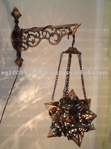 Handmade Wall Mount Hanging Star Lamp With A Deco Bracket Wall Light - Buy Wall Light,Outdoor ...