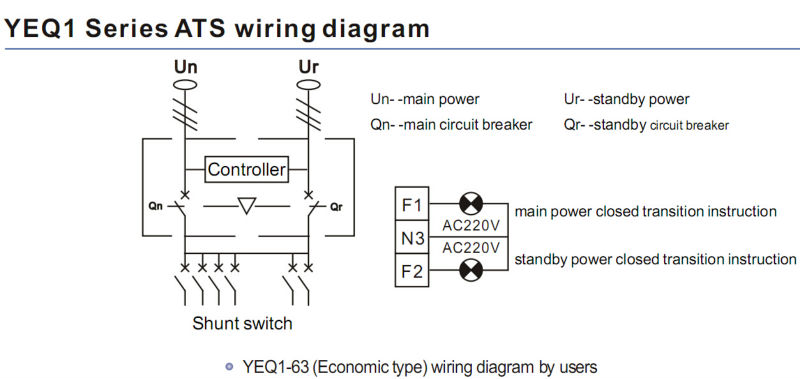 Ats Wiring Diagram Standby Generator : Economic automatic transfer switch ats v socomec auto