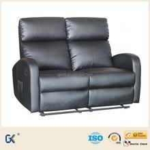 Salon en cuir fauteuil inclinable coupe canapé - lit