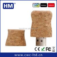 Popular Wine cork USB 2GB4GB8GB16GB FCC/ROHS/CE wooden USB stick Custom Solution print/laser engraving LOGO