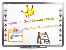 "Dual Users Interactive Whiteboards 82"" Educational Equipment with I-Cloud Smart Classroom Solutions"