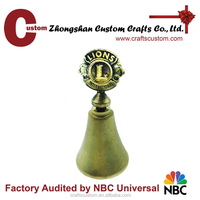 Custom 3D zinc alloy small metal craft bells/souvenir wedding bell