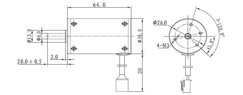 12v variable speed brushless dc motor bldc-38s