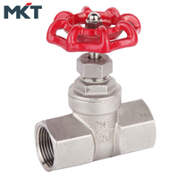 Stainless Steel Female Thread Long Body Copper Gate Valve With Prices
