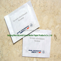 individual Airline refresh wet wipe