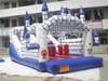 commerical kids jumping inflatable bouncer house with slide, inflatable bouncer castle for sale
