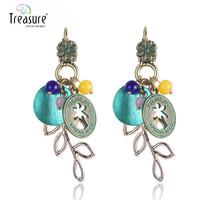 Top Quality Lastest bead dangle earring, fancy design colorful earring, vintage earring jewellry