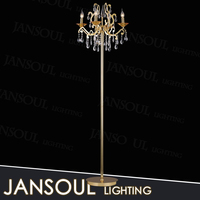 chinese arc tall decorative flexible modern wrought iron floor lamp for interior lighting decoration