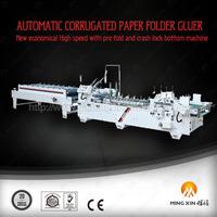 2015 ce used gluing corrugated carton box making machine Flatbed