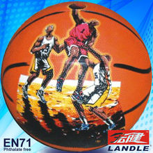 Photo customized hot sale wholesale rubber made Official Size 6 American basketball