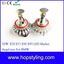 32W ce rohs led marker angel eye for bmw, X5 E70 E60 E61 E91 E92 H8 CAR LED For bmw led marker