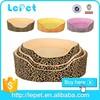 Leopard print warm cozy luxury pet dog bed wholesale/memory foam dog bed/large dog bed