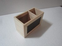 best seller wooden pen box and high quality wooden pen holder with black board and whit board