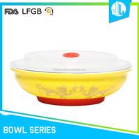 FDA & LFGB cheap silicone lids wholesale ceramic mixing bowl