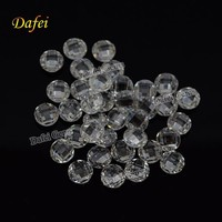 Round Double Checkerboard Cut White Gemstone For Fashion Jewelry