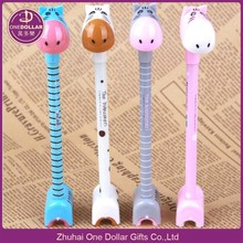Hippo Ballpoint Pen Novelty Kids Toys School Office Gift Cartoon Stationery