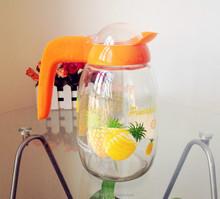 2015 famoso prodotti personalizzati di vetro della decalcomania limonata brocca 1600ml( Gass fabbrica, passato fda, eu, sgs, GB)