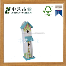 Professional garden supplier wooden bird nest wooden bird cage wooden decorated bird house