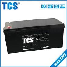 TCS hot sell 12v 220ah UPS lead acid ups battery