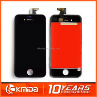 For iPhone 4 4G 4S LCD front assembly, Retina original LCD + Touch screen glass digitizer + midframe, replacement for AT&T GSM