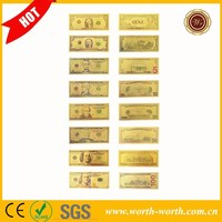 2015 new product a full of sets American 1 2 5 10 20 50 100 Dollars items for sale, 24k Gold banknote For best selling