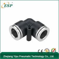 PYM zhejiang yipu black union elbow body plastic quick connect fittings