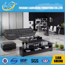 GREY LEATHER SOFA S2020A00-R4002