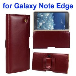 Genuine Leather Case for Samsung Galaxy Note Edge Case with Belt Clip