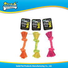 Colorful cotton dog climbing rope pet toy