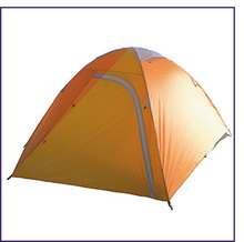 2 Person Double Layer Ripstop Polyester Camping Tent With Fiberglass Pole