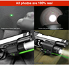 532nm green laser sight & 200 lumen led flashlight combo for hunting