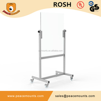 GB03 Business used freestanding magnetic movable glossy surface color customized wholesale whiteboard with stand