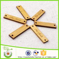 40x10mm customized natural wood clothing hang tag