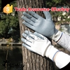 SRSAFETY 13 gauge knitted nylon coated nitrile strong white gloves/foam nitrile working gloves
