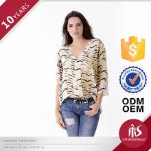 Verano desgaste diario envío Parttern diseño Simple modelo blusas elegantes