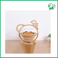 Vegetable Refrigerator Fruit Storage,Hanging Natural Bamboo Animal Shape Folding Fruit Basket
