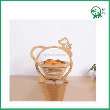 Vegetable Refrigerator Fruit Storage,Hanging Natural Bamboo Animal Shape Folding Fruit Basket