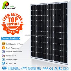 250w 30v Mono fiexible solar panel good price with CEC/IEC/TUV/ISO/INMETRO/CEC certificates for sale