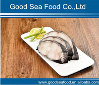 Frozen IQF skin on Pacific cod portion cod steak