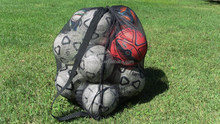 Mesh Ball Bag With Shoulder Strap. 30 x 40 Inches with Drawstring Closure
