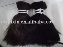 Factory supplier large quantity Burman/Myanmar double drawn human hair material