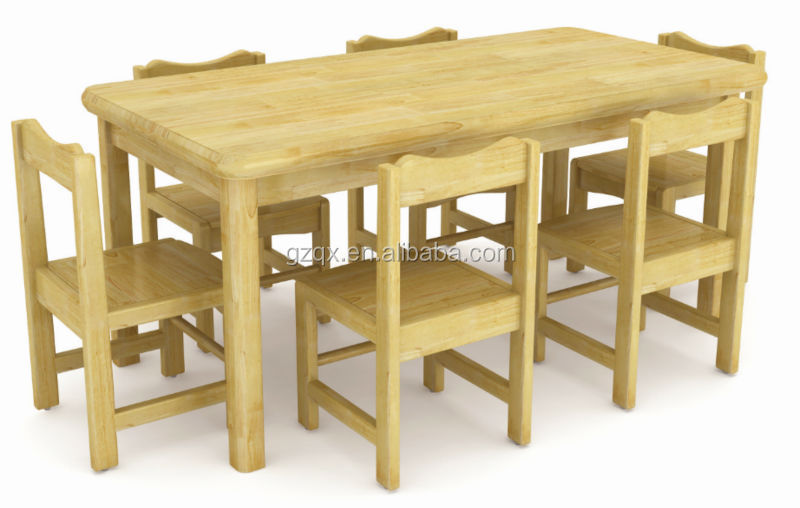 Imported Pine Wood Student Table Chair Wooden Children School Furniture Kids Study Table Design