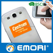 China new product microfiber mobile phone adhesive sticker