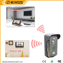 """7"""" inch video call easy installation Flats door intercom video phone peephole security doorphones"""
