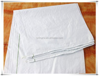 Customized Plastic white woven polypropylene bags for packing flour 60 x 100cm