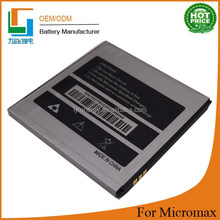 High quality mobile phone battery for micromax a110 battery