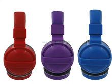 Promotion plastic headphones Headphone in plastic cases