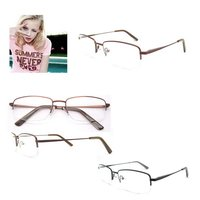 2015 hotsell women men wood and metal rim eyeglass frames with spring hinge