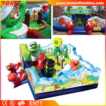 Sesame Street Learning Town kids inflatable Activity Center, inflatable fun city, inflatable playgrounds