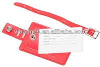 2014 newest promotion PU leather luggage tags